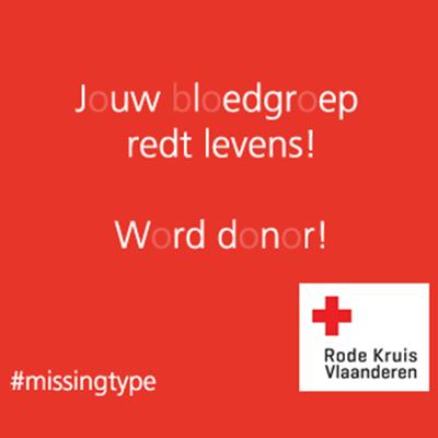 Studio 100 steunt de Missing Type campagne van het Rode Kruis