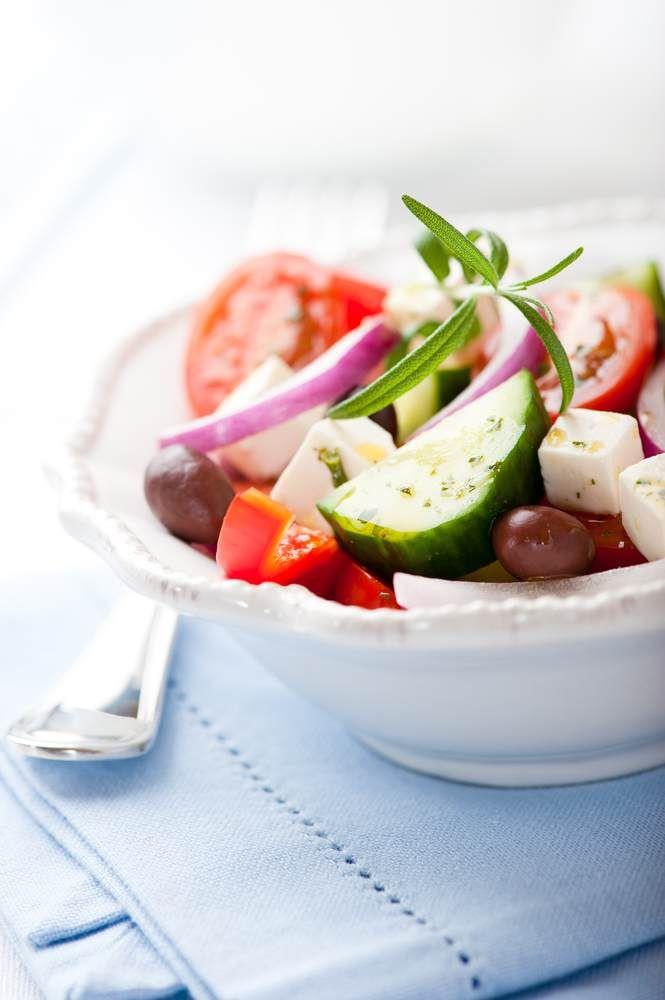 Giouvetsi met Griekse salade
