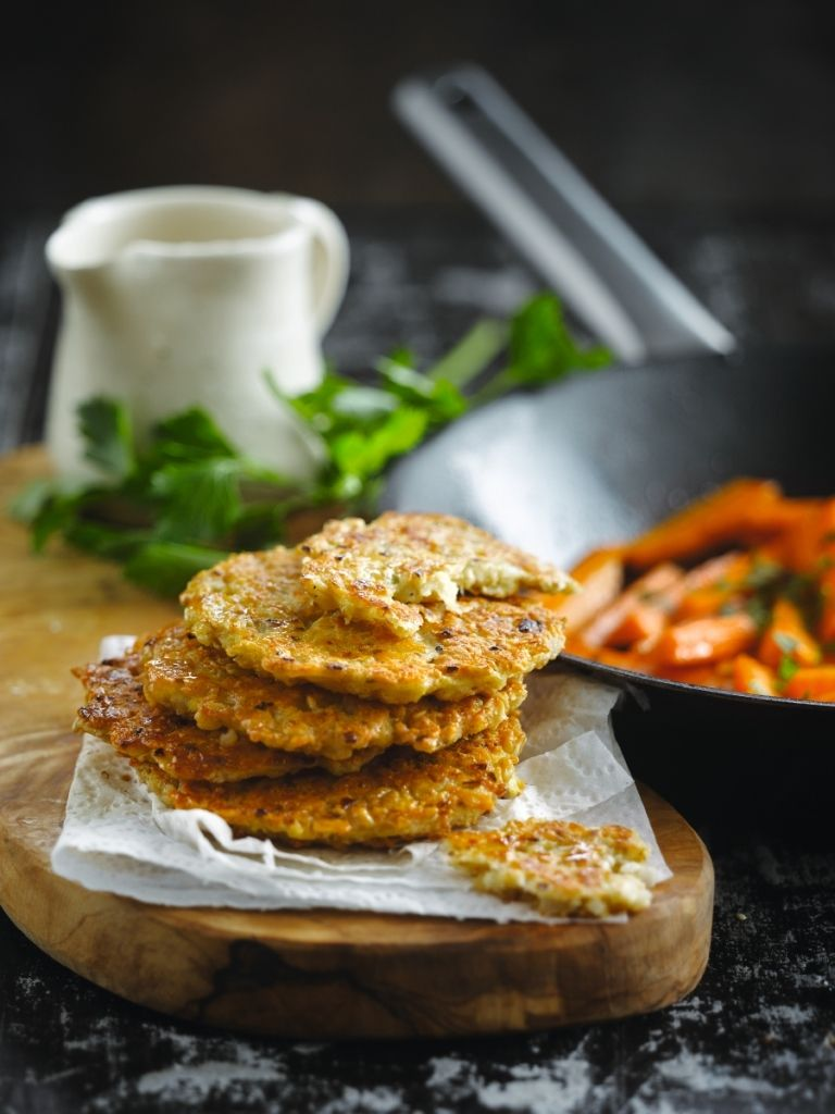 Haverkaaskoekjes met wortelen