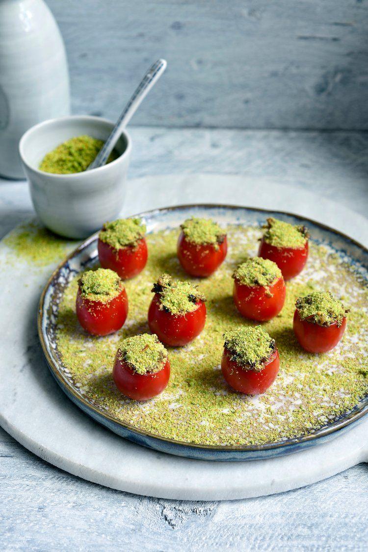 Gevulde tomaatjes met champignons