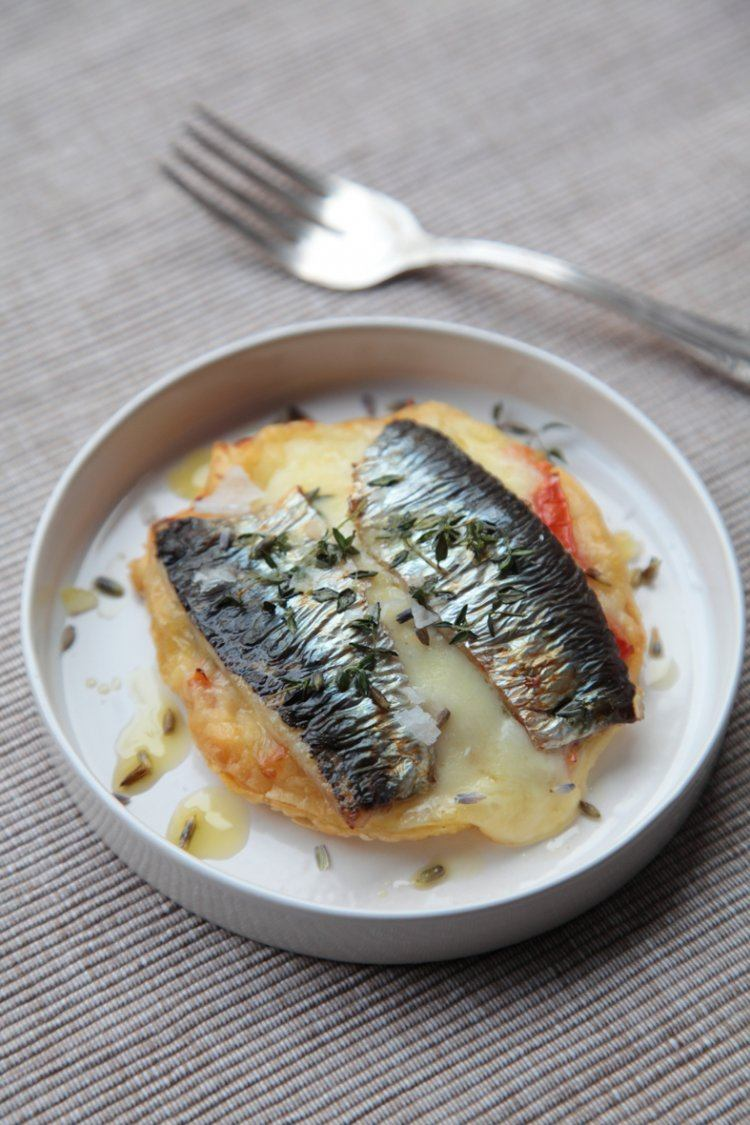 Taartje met sardines