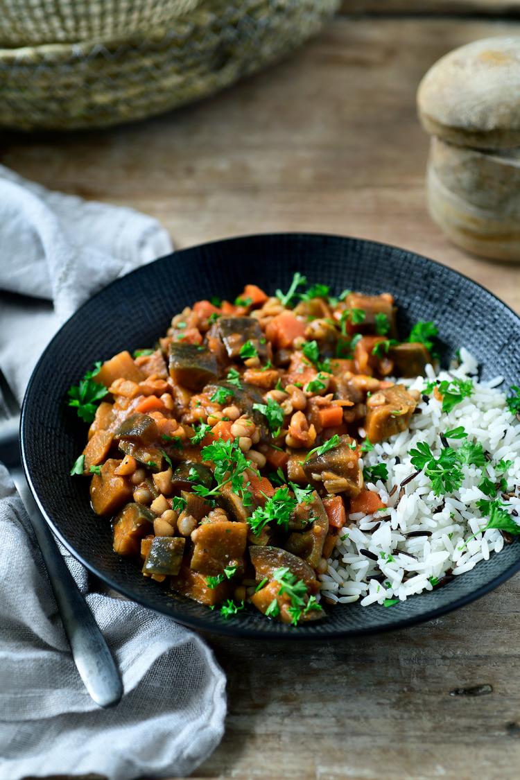 Veggie stoofpotje met rijst