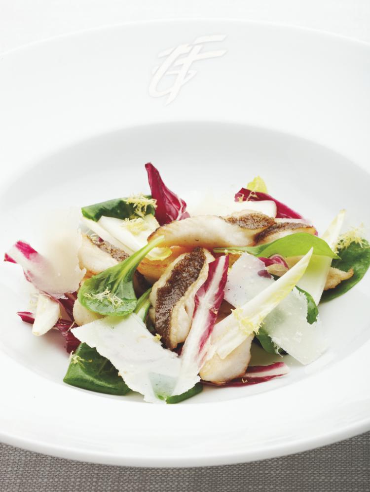 Salade 'nice to eat you' met gebakken schar