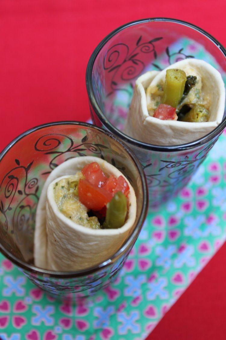 Wrap met muntchutney & groene boontjes