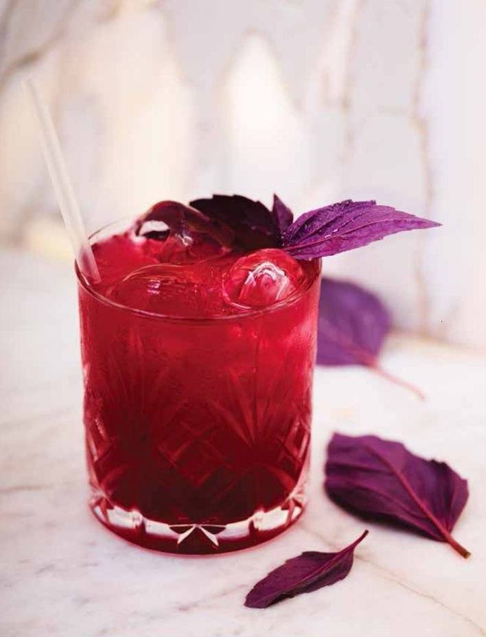 Gin Red Basil Smash