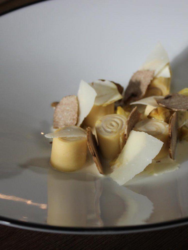 Pasta met verjus, truffel en kastanjes