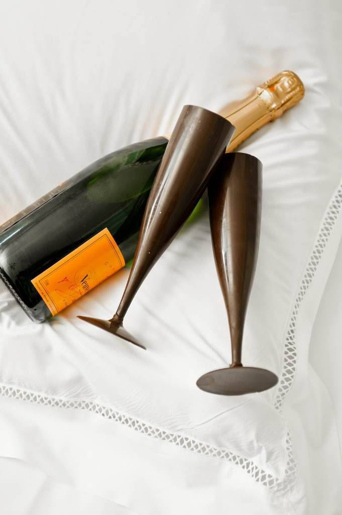 Chocolade champagneglazen