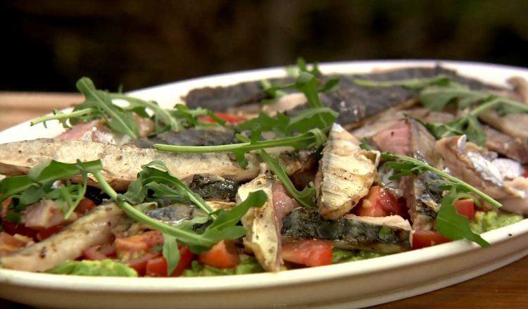 Makreel op de barbecue