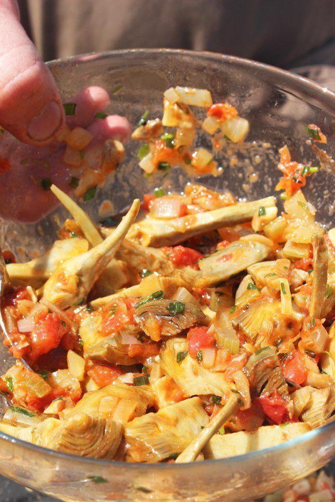 Salade van artisjok