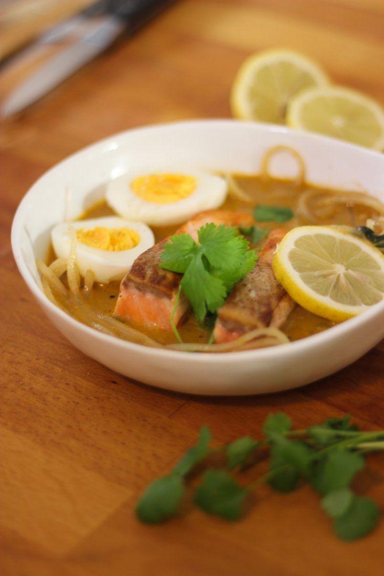 Currysoep met rammenasspaghetti