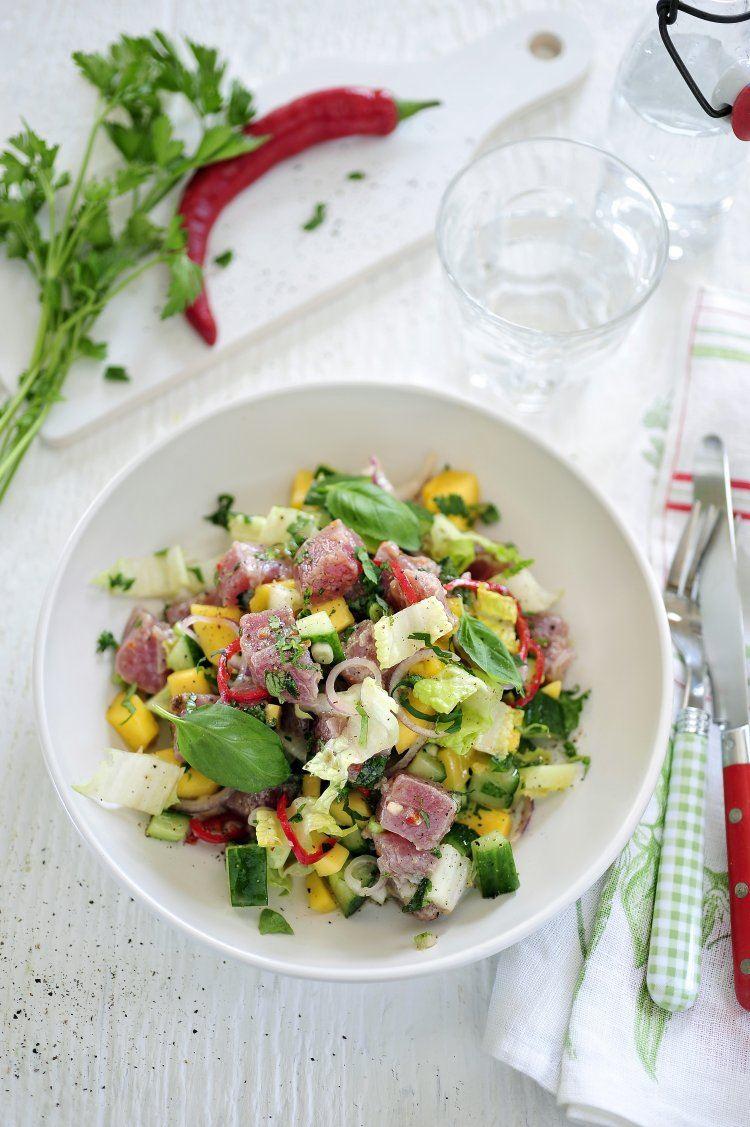 Salade met verse tonijn