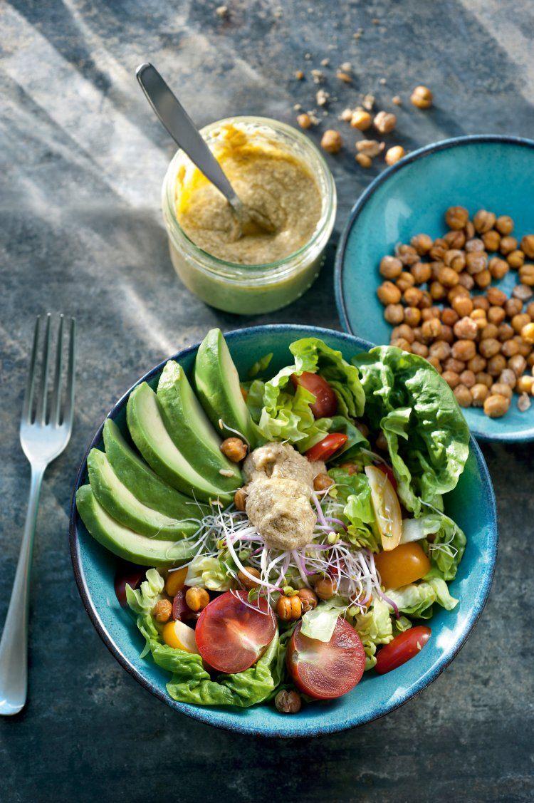 Vegan caesar salade