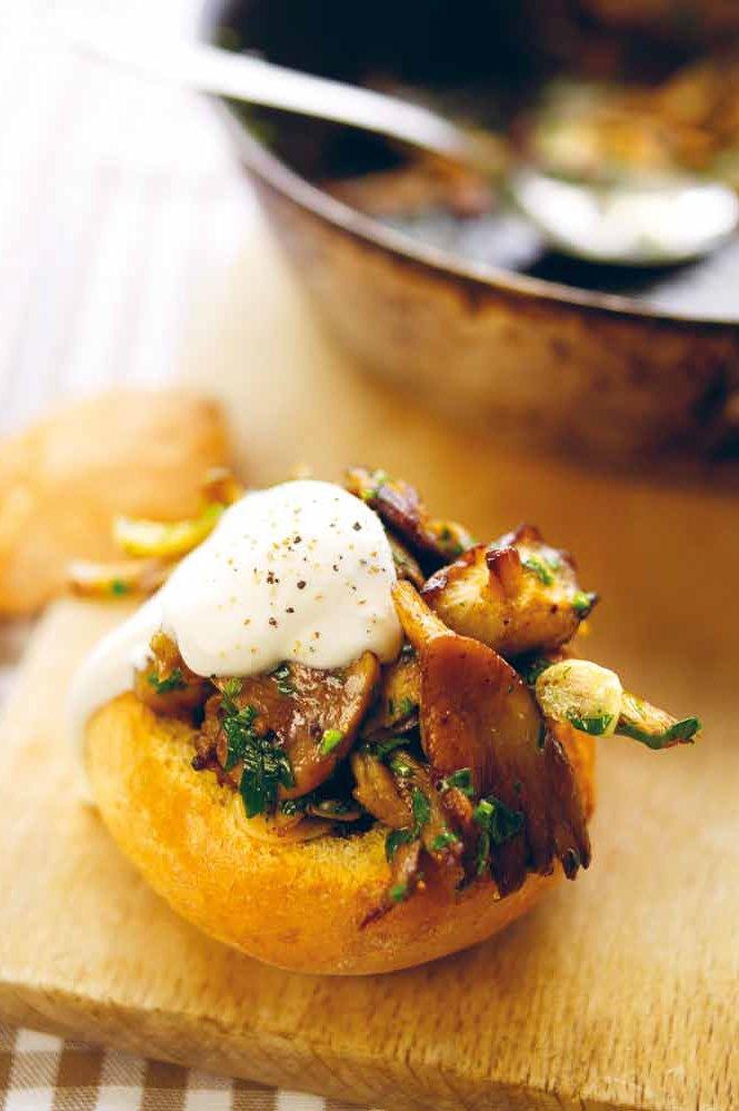 Broodje paddenstoelen