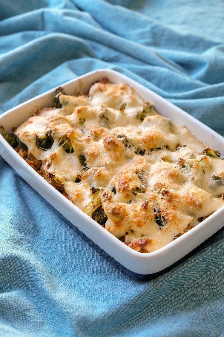 Ovenschotel met quinoa en broccoli