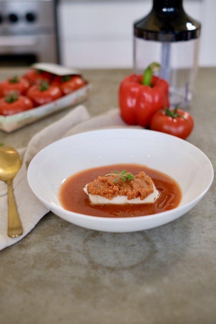 Gazpacho met schelvis