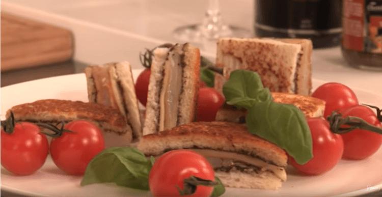 Feestcroque met gedroogde ham en truffel