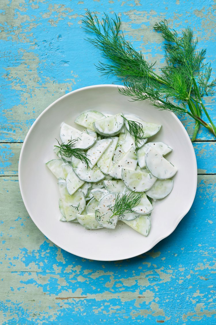 BBQ salades: komkommersalade