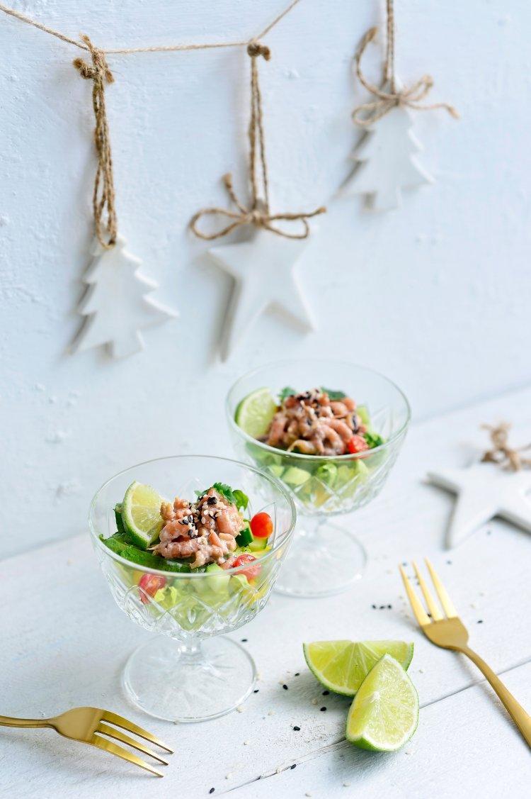 Aziatische garnalencocktail