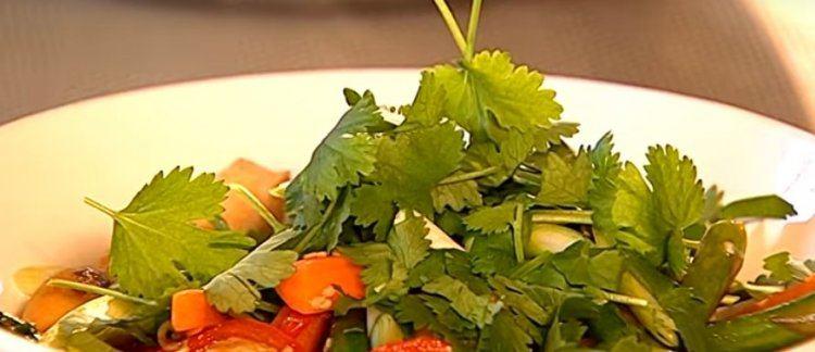Gewokte groentjes met kip