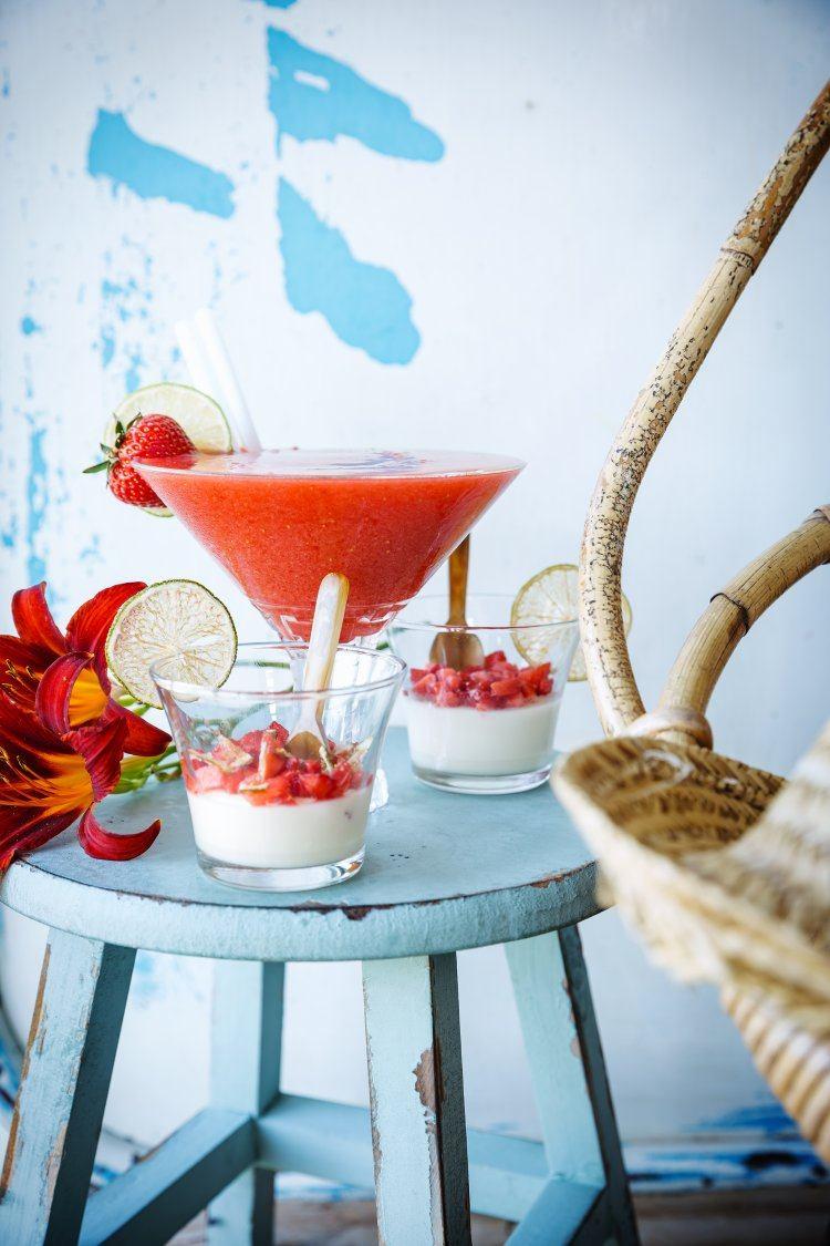 Strawberry Daiquiri & Panna cotta van limoen