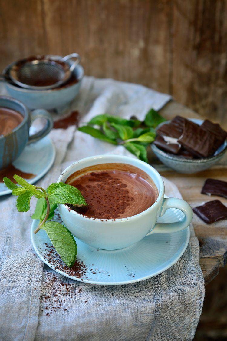 Chocolademelk met munt