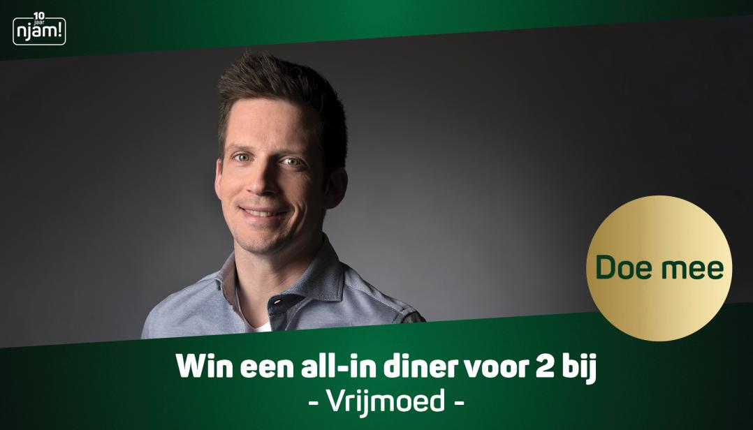 Win een all-in diner voor 2 personen bij Vrijmoed