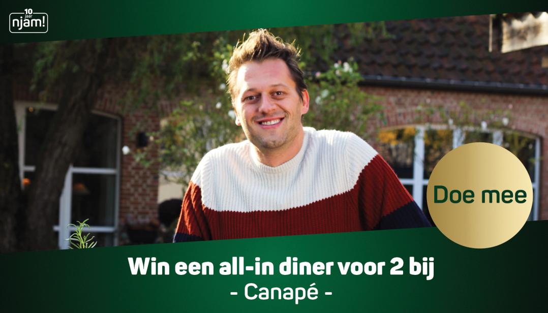Win een all-in diner voor 2 personen bij Canapé